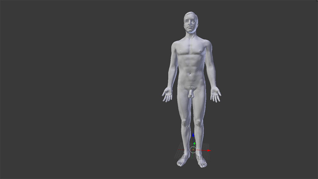 Imported BodyParts3D Man
