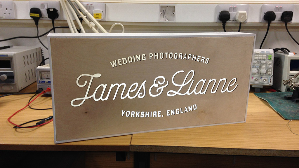 Illuminated Wedding Fair Sign